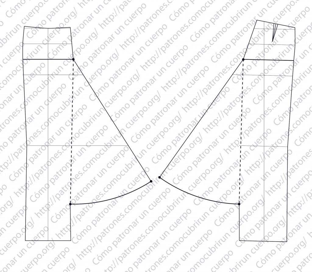 Pantalón-sarruel de ocho cinturones. Mod.P2013-001-20131025