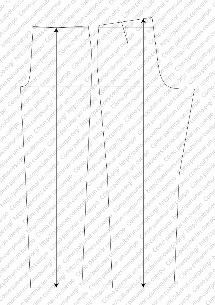 pantalón clásico de dos pliegues cerrados al derecho