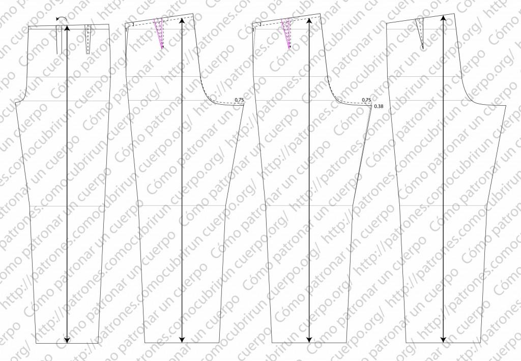 pantalón clásico de dos pliegues cerrados al derecho 04