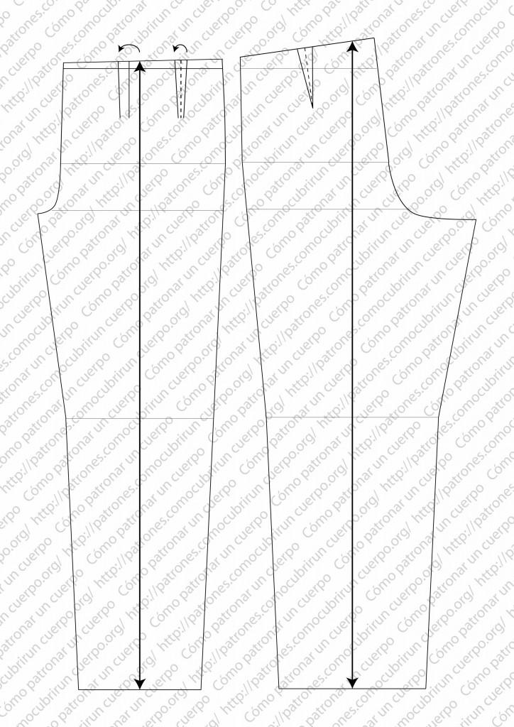 pantalón clásico de dos pliegues cerrados al derecho 05