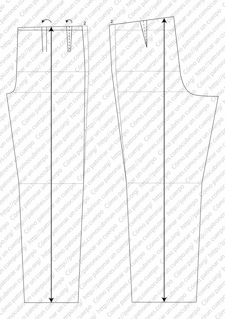 pantalón clásico de dos pliegues cerrados al derecho 07