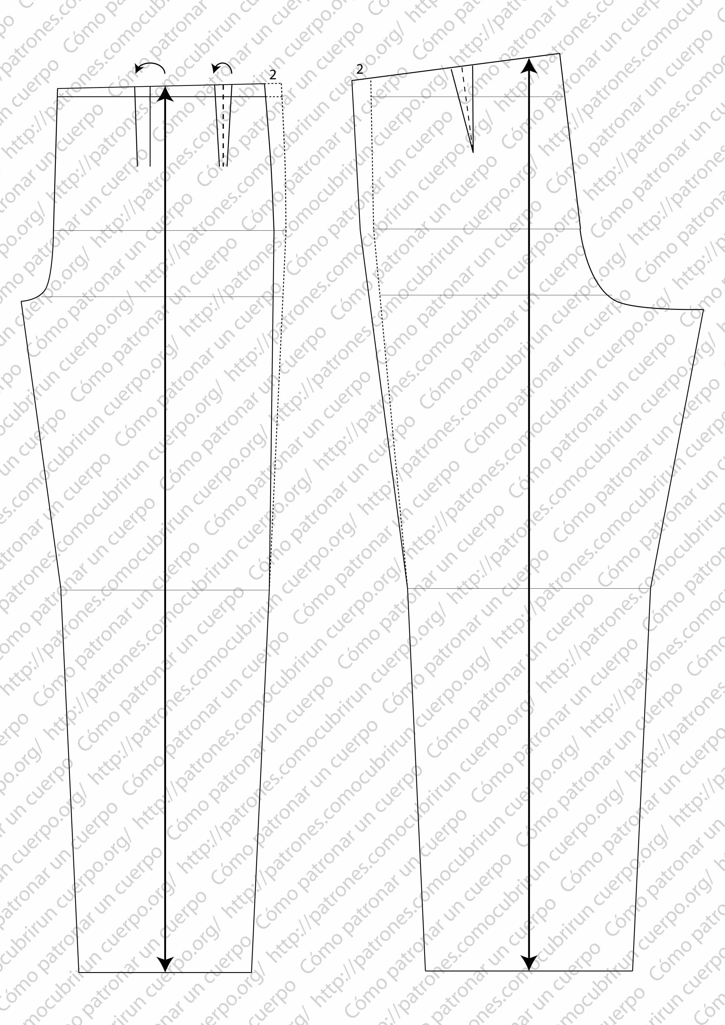 Pantalón de pinzas clásico Mod.P2013002131120